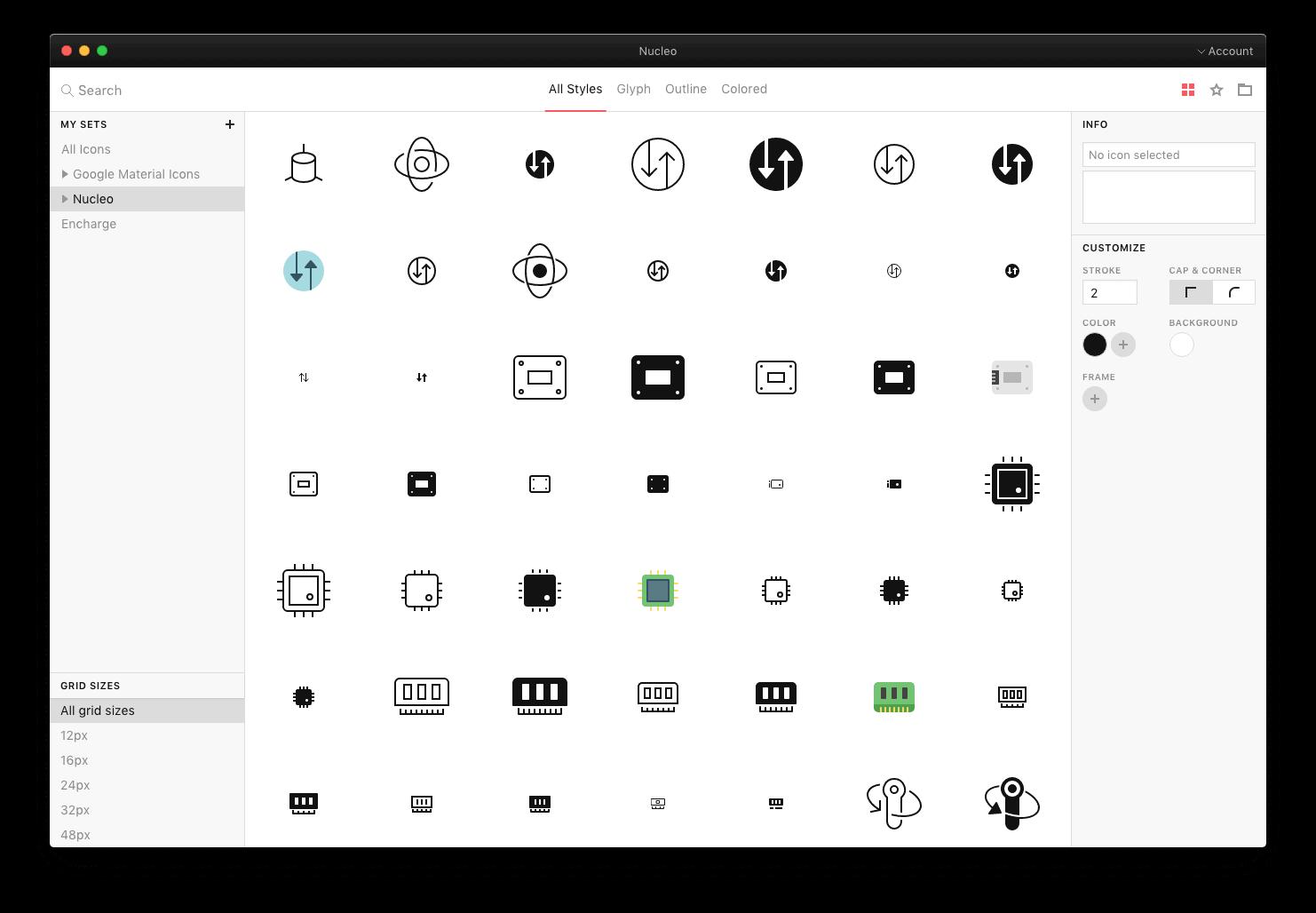 Nucleo Icons