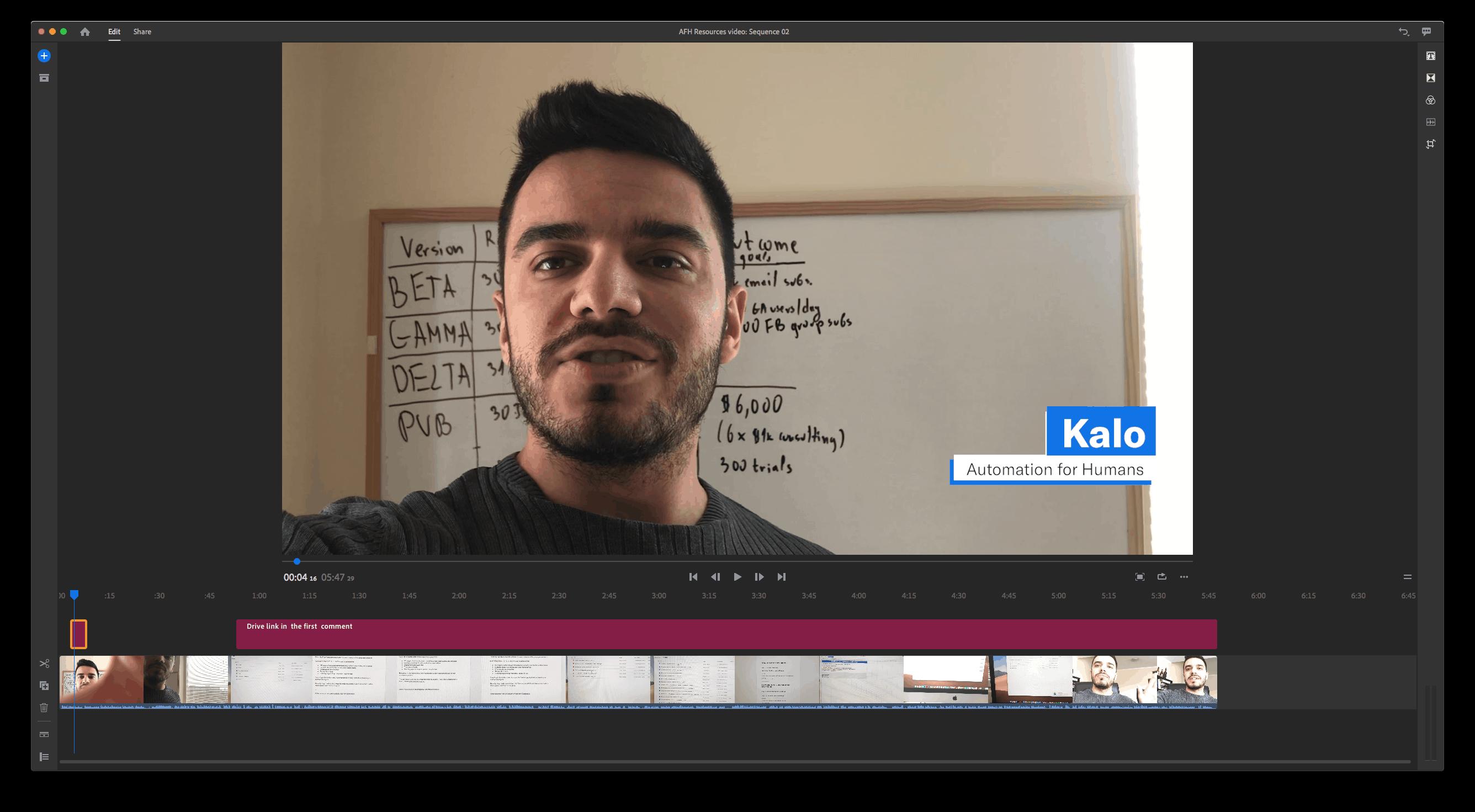 Adobe Premiere Rush - Video design SaaS tool