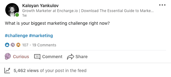 LinkedIn Engagement Post