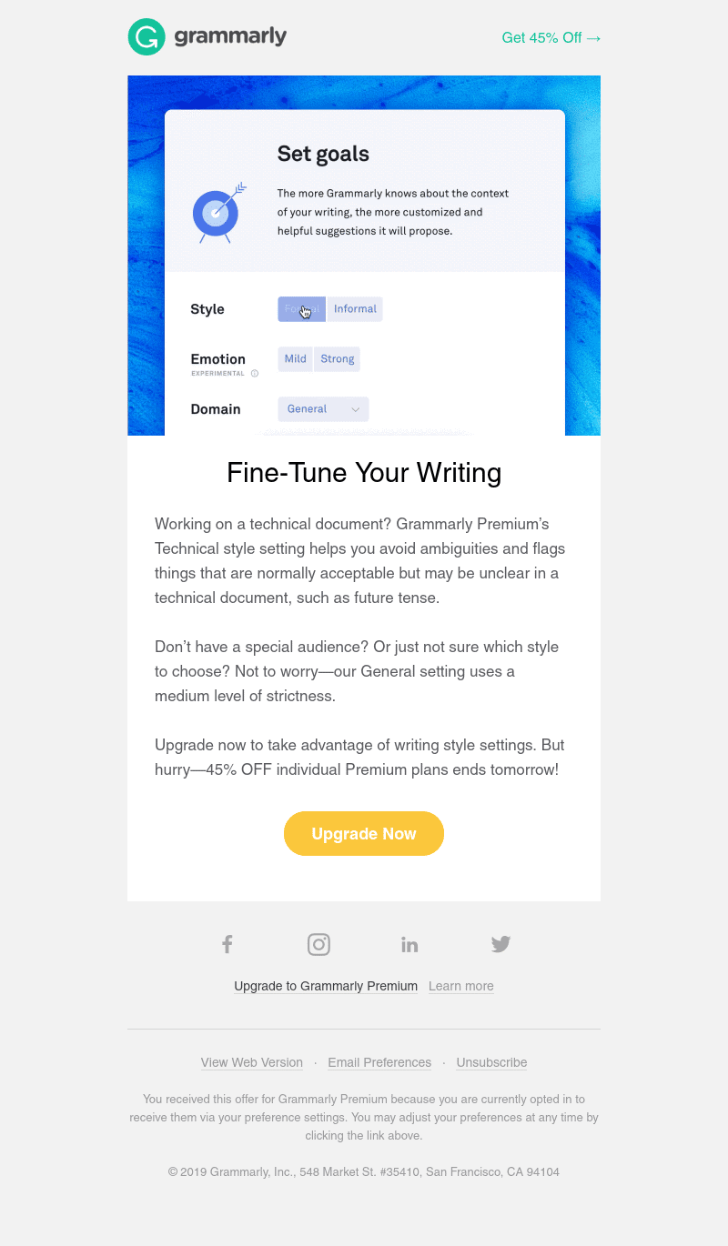 Automated email template —  Promotion Email