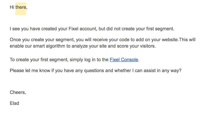SaaS Email Onboarding Teardown — Fixel