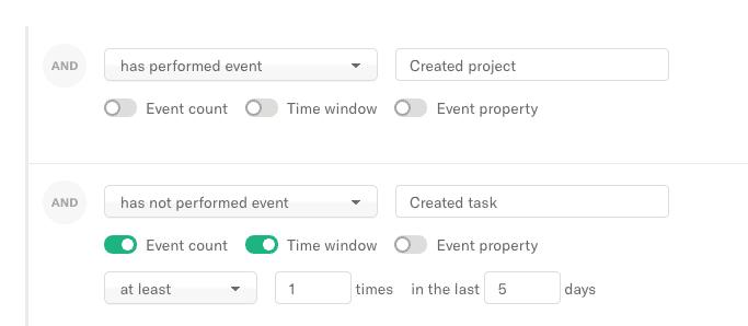 event-based user segmentation for SaaS in Encharge