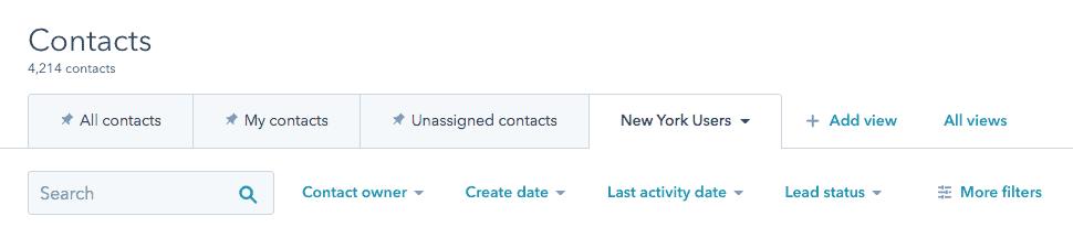 user segments in HubSpot