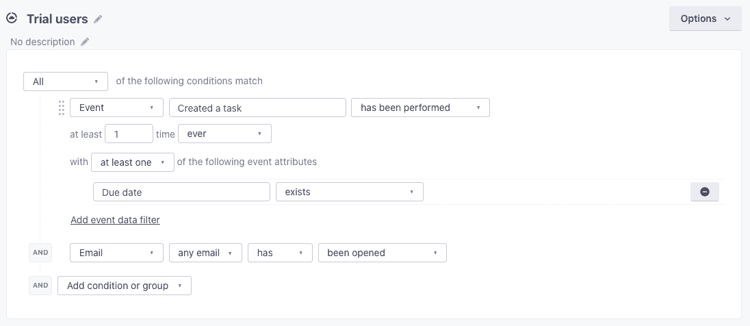 customer.io user segmentation for saas