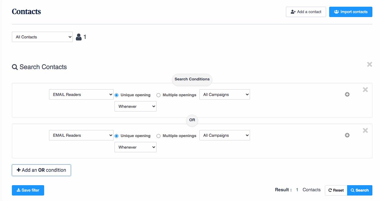 sendinblue user segmentation for SaaS