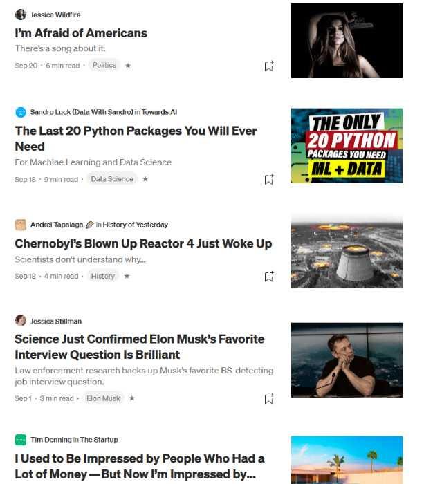 Medium headlines